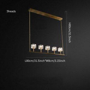 Crystal round chandelier/Brass Crystal series