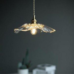 Retro Lotus creatieve glazen hanglamp