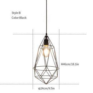Diamond hanging light