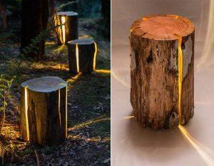 Cracked Stump Lamp