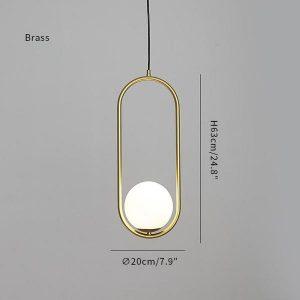 Mila Brass pendant lamp