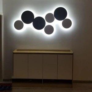 PUCK WALL ART   Fluorescent wall light