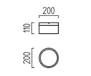 Helestra LED Deckenleuchte Liv 15/20cm