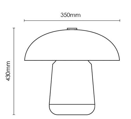 Cloak Mushroom Table Lamp
