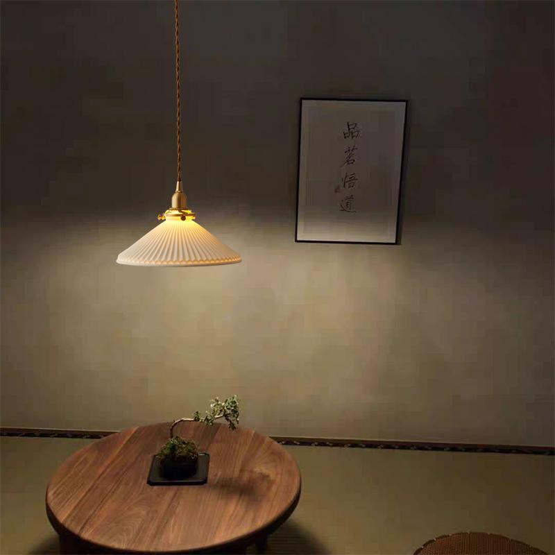 Modern pleated light