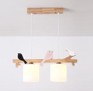 Bird Wooden Chandelier