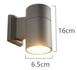 Cylindrisk LED utomhusvägglampa