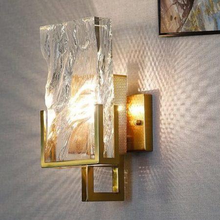 Ice crystal wall lamp